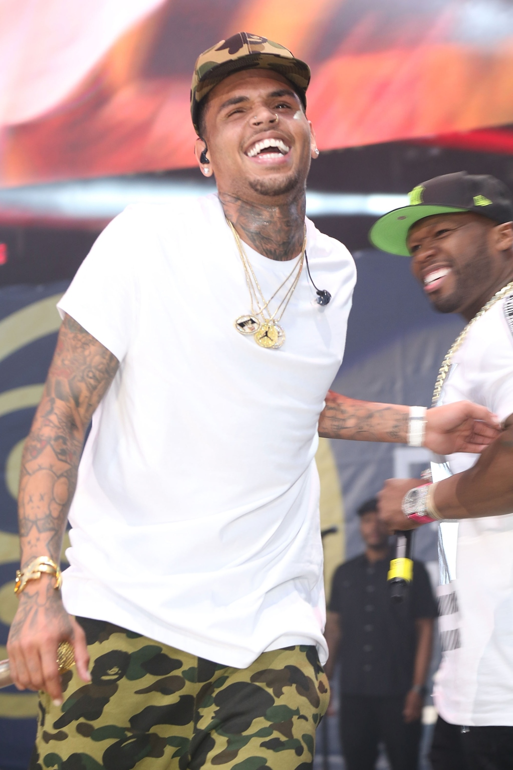 Chris Brown & 50 Cent - 2015 Hot 97 Summer Jam