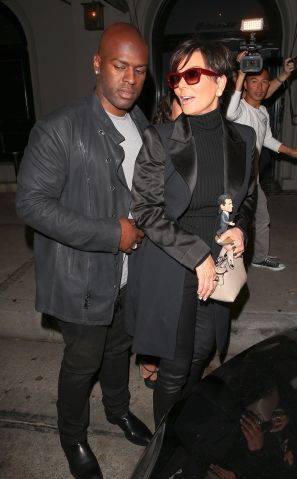 kris Jenner and boyfriend Corey Gamble go to dinner