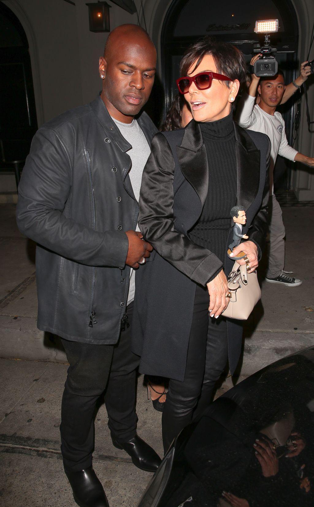 kris Jenner and boyfriend Corey Gamble go to dinner