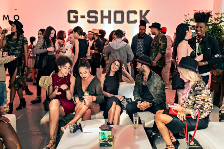 Partygoers At G-Shock's Camo Ball In New York City