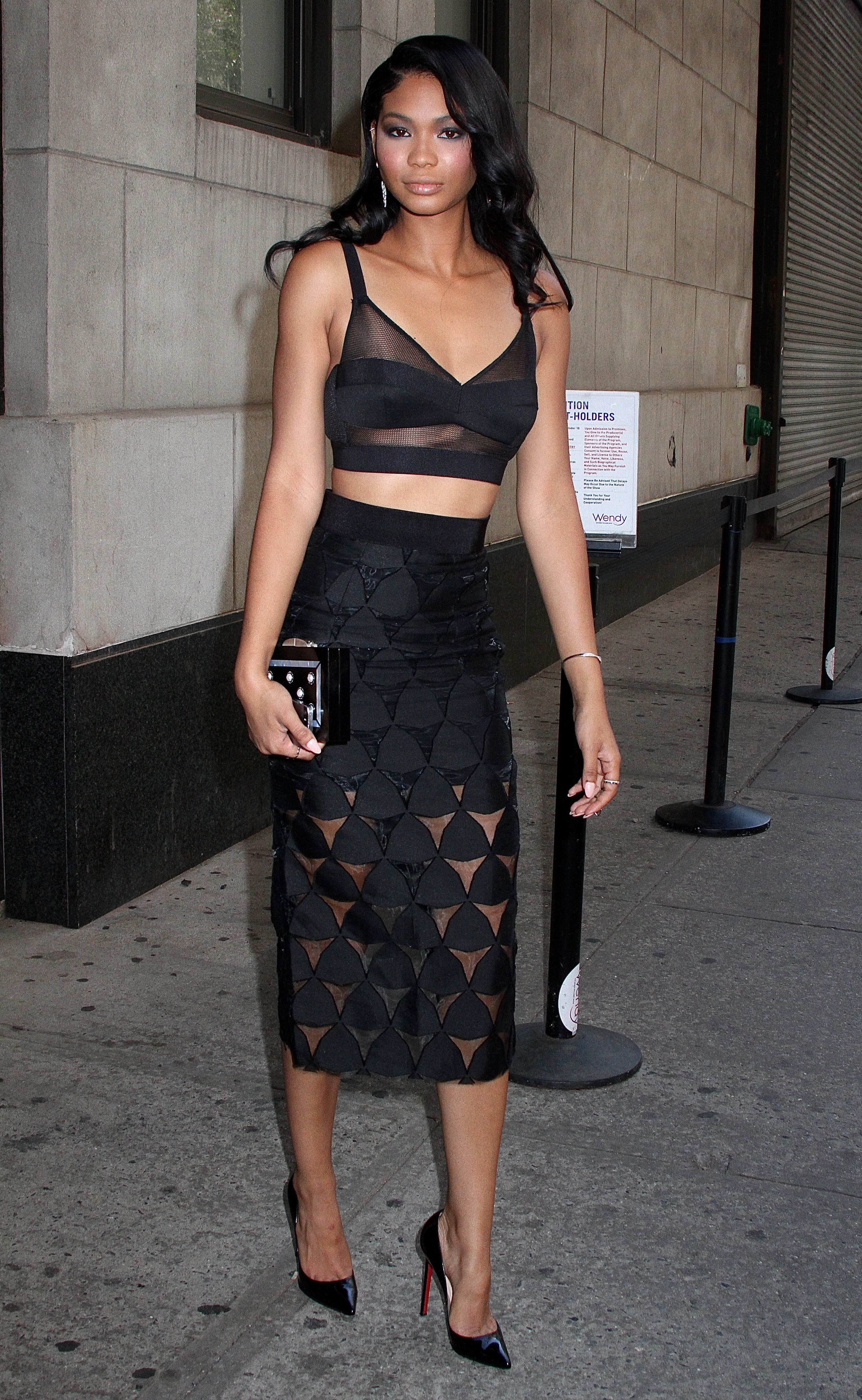 Chanel Iman heads to Wendy Williams