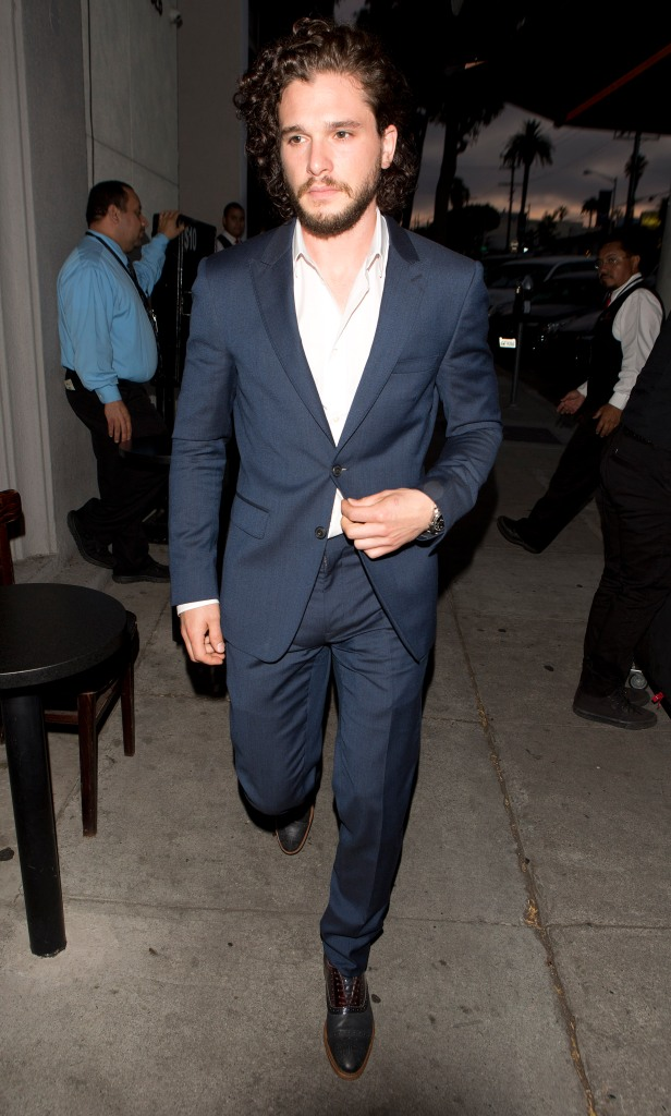 Kit Harington seen arriving at 'Craigs' Restaurant in West Hollywood, CA