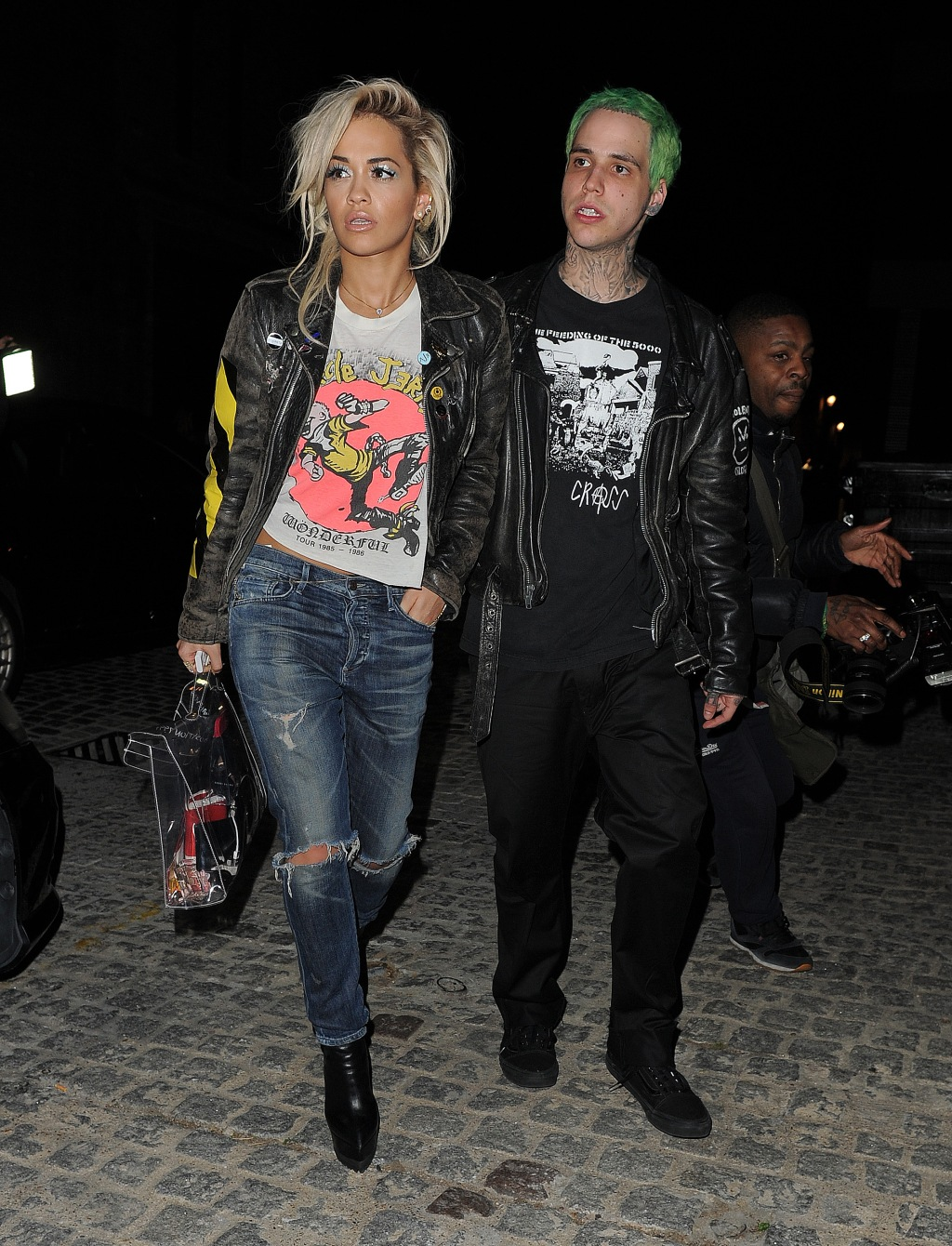 Rita Ora and boyfriend Ricky Hil at the Chiltern Firehouse