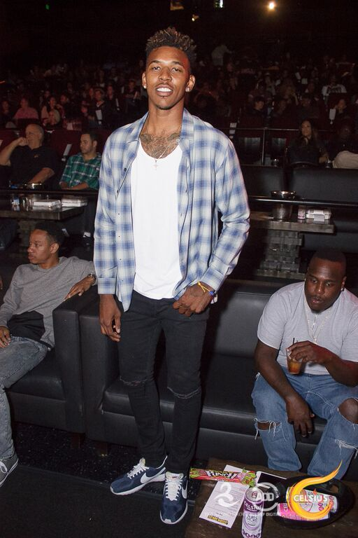 Nick Young took a break from the courts for the event.
