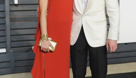 Benedict Cumberbatch and wife Sophie Hunter at Vanity Fair Oscar Party 2015