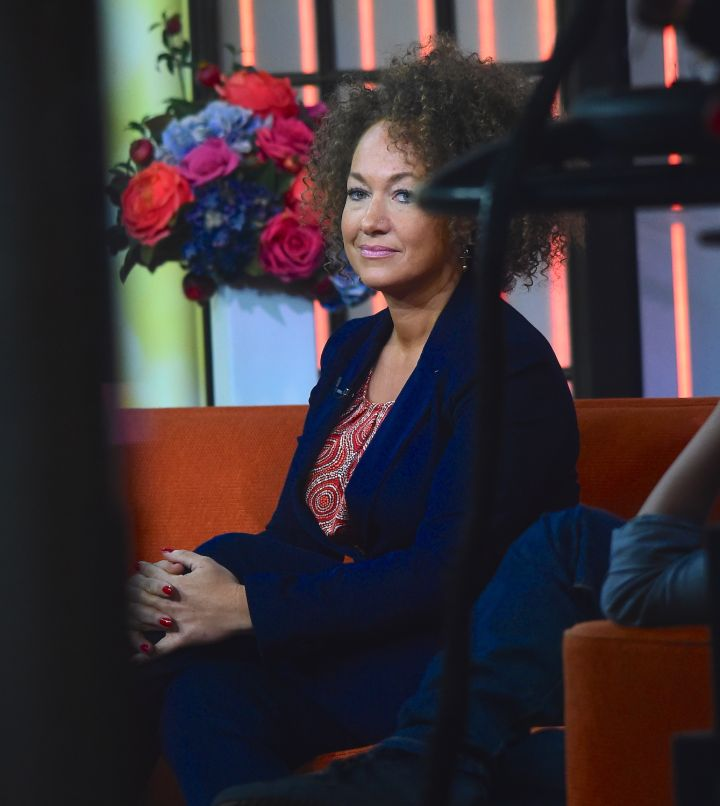 """Rachel Dolezal makes sure her 'fro is picture perfect for her """"Today"""" show appearance."""