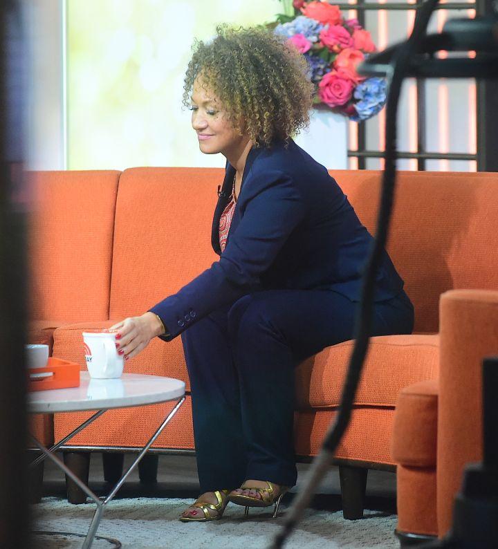 Rachel Dolezal in current times, identifying as a Black woman.