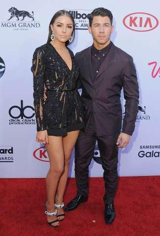 Nick Jonas and Olivia Culpo attend the BBMA's