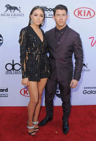 Nick Jonas and Olivia Culpo attend the BBMA's