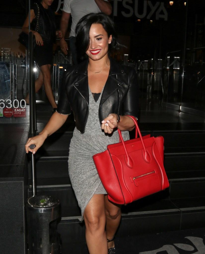 Demi Lovato dinner at Katsuya