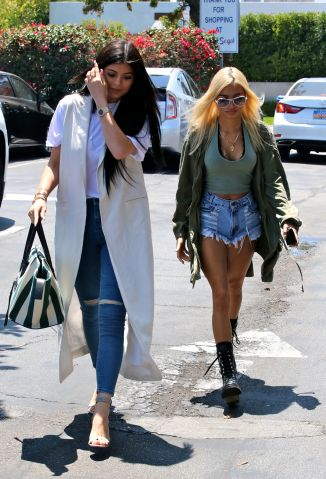 Kylie Jenner & Pia Mia shopping in West Hollywood
