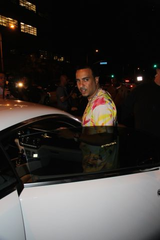 French Montana arrives at Hooray Henry's Club in West Hollywood