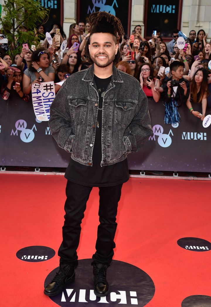 The Weeknd kept things casual, as he tends to do so well.