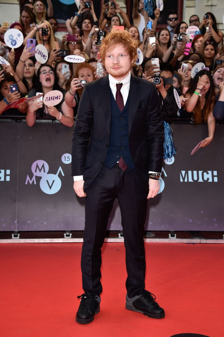 Ed Sheeran suited up for the event.
