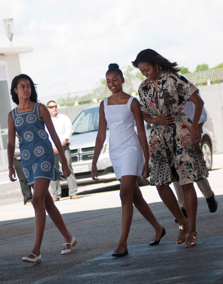 Michelle Obama took Malia and Sasha with her for a two week trip to Europe.