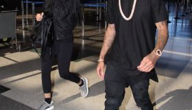 Kylie Jenner and Tyga at LAX