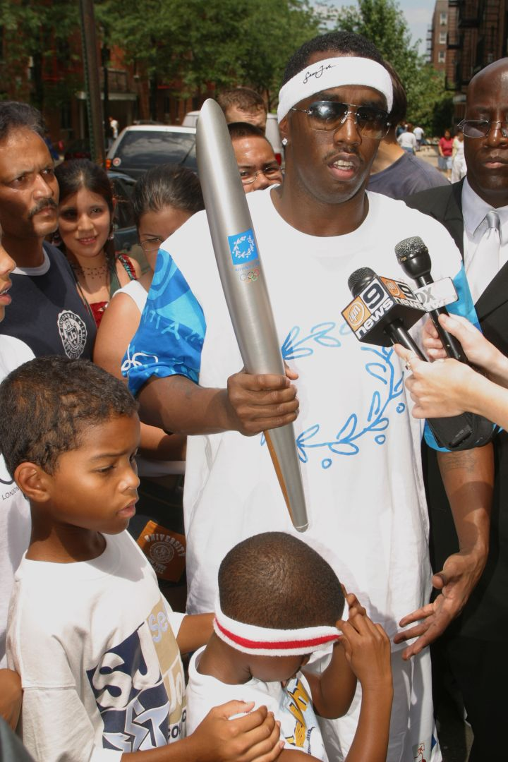 Diddy and the kids back in '04.
