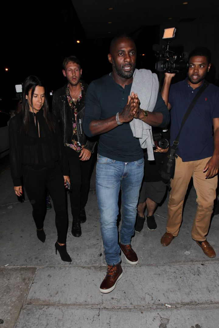 Simple and stylish, Idris can do no wrong.
