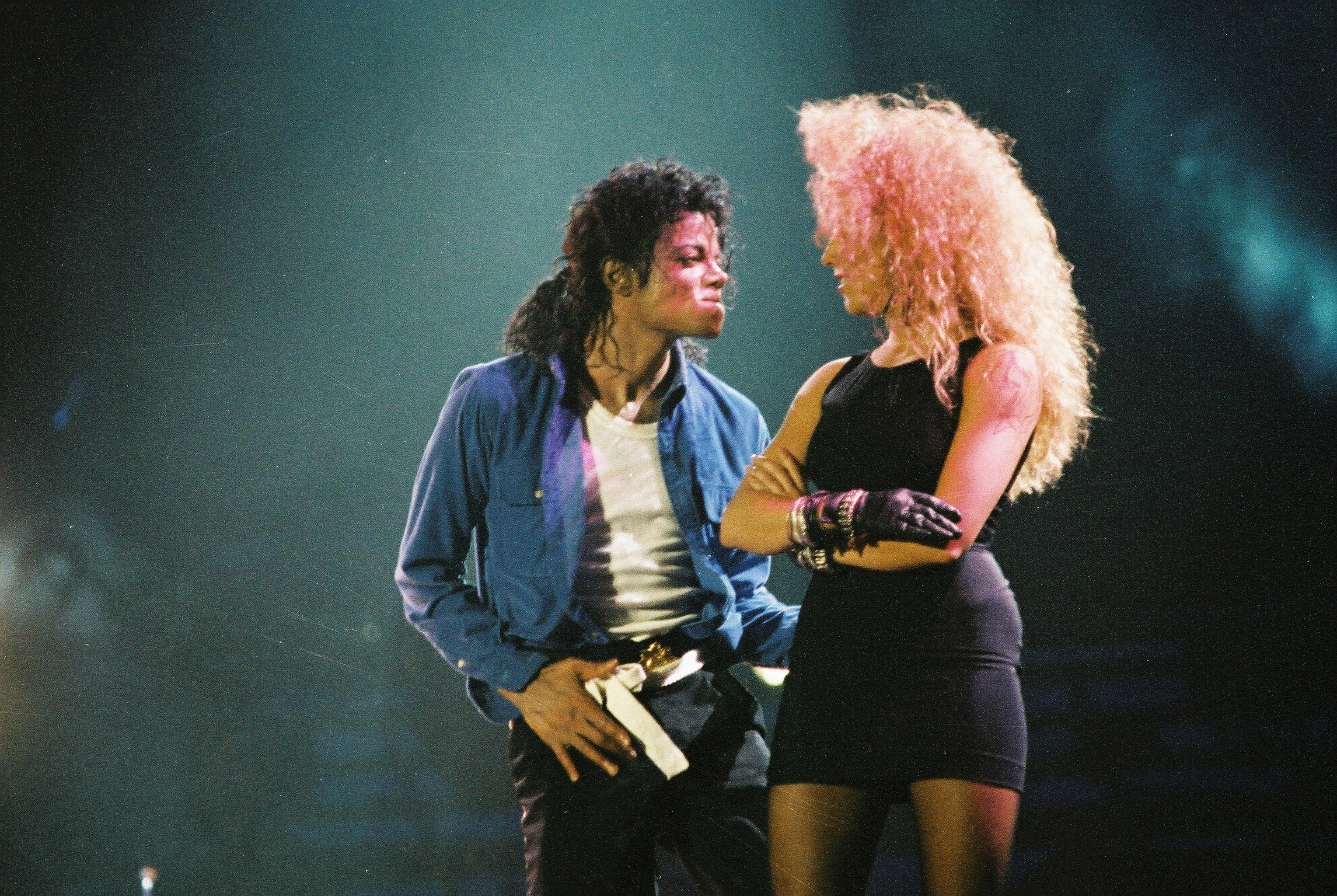 Michael Jackson at Whembly Stadium