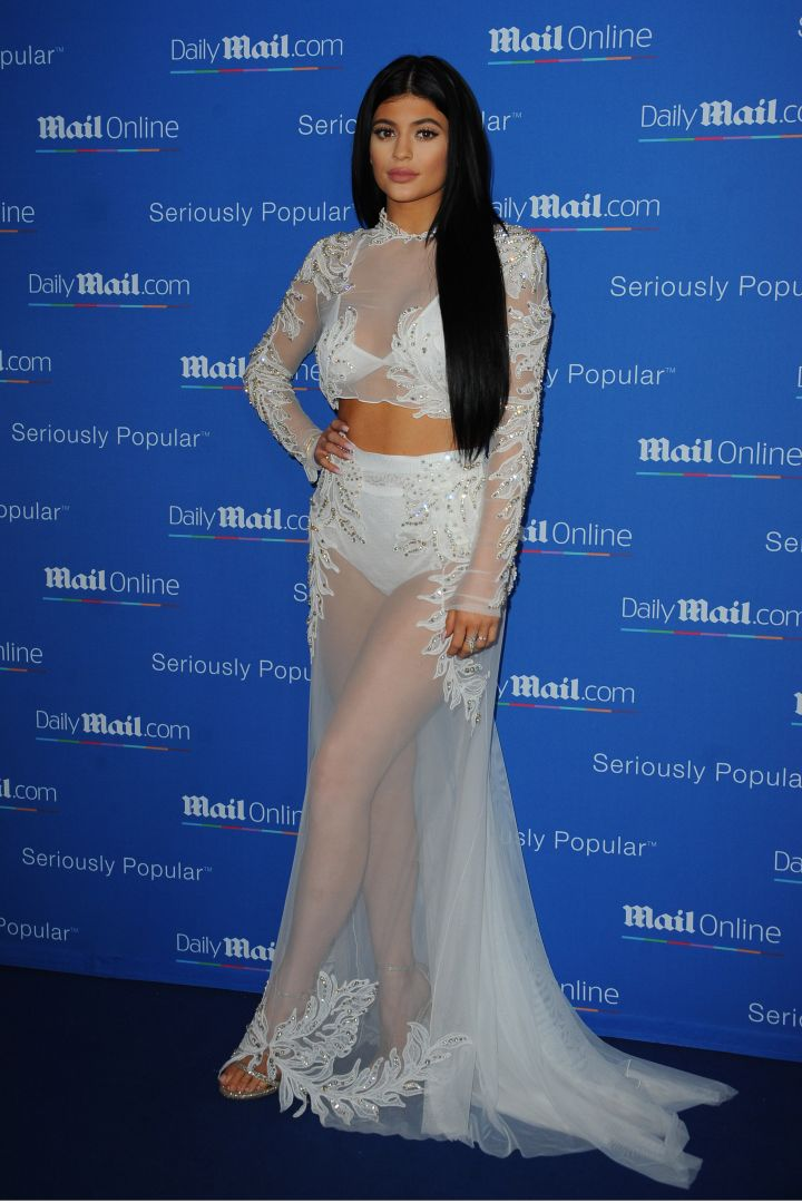 Kylie Jenner is sheer beauty at DailyMail's Seriously Popular Yacht Party.