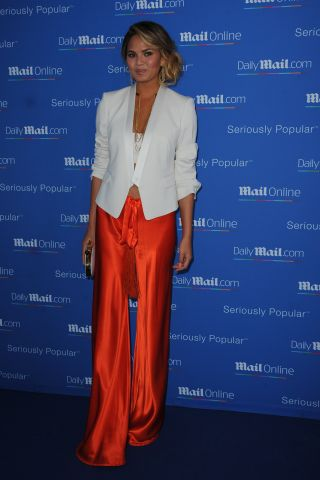 Chrissy Teigen at CELEBRITY ARRIVES AT MAILONLINE YACHT PARTY IN CANNES