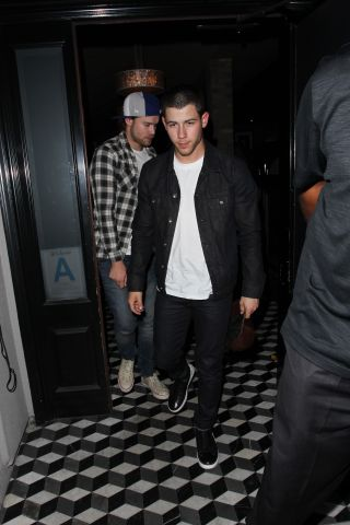 Nick Jonas and Chord Overstreet leaving Craig's in West Hollywood