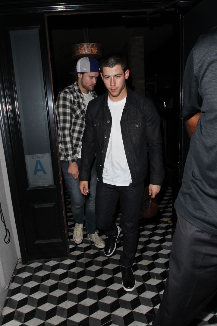 Nick Jonas was spotted at Craig's restaurant in Hollywood, after news of his breakup with Olivia Culpo hit the 'net.