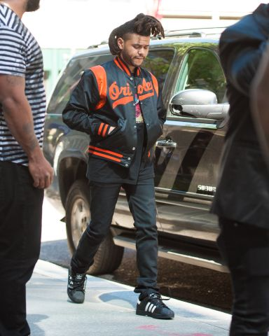 The Weeknd leaving his hotel in SoHo, New York City