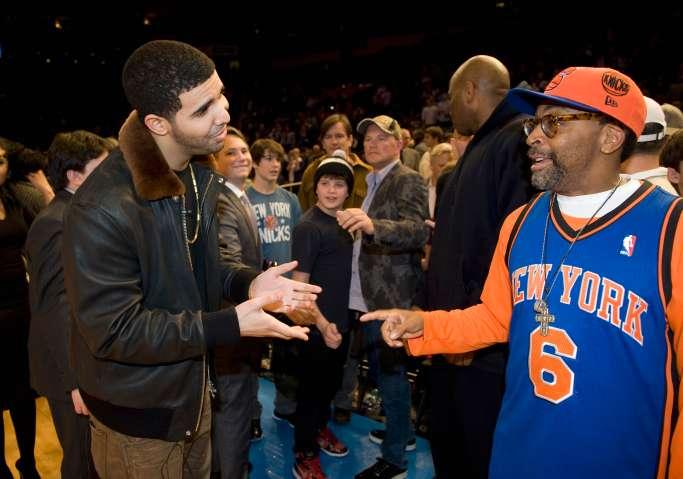 Drake, Spike Lee at Miami Heat game