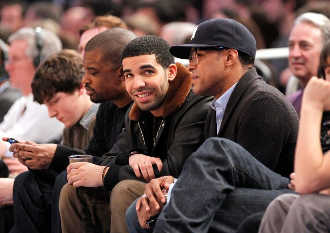 Drake courtside, Knicks Game at Madison Square Garden
