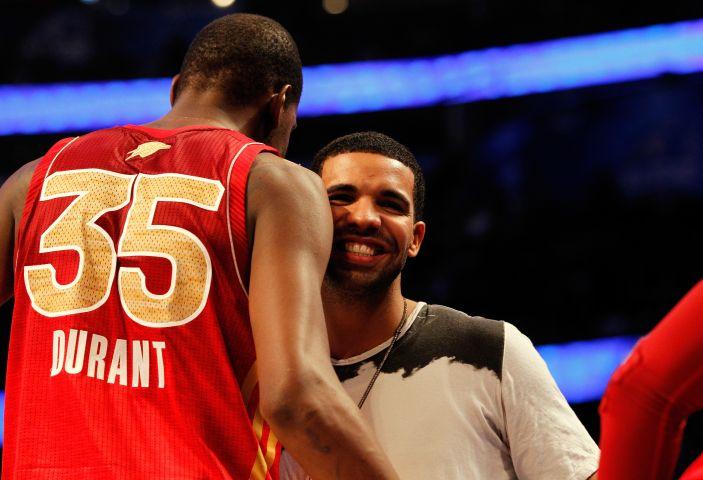 Drake courtside, 2012 NBA All-Star Game