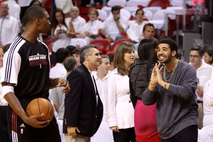 Drake stans out for Chris Bosh.