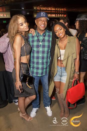 Jasmine Sanders, Russell Simmons, and Tahiry at All Def Comedy Live in L.A.
