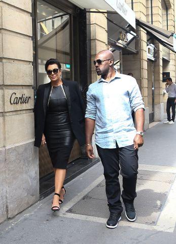 Kris Jenner & Corey Gamble at l'Avenue in Paris