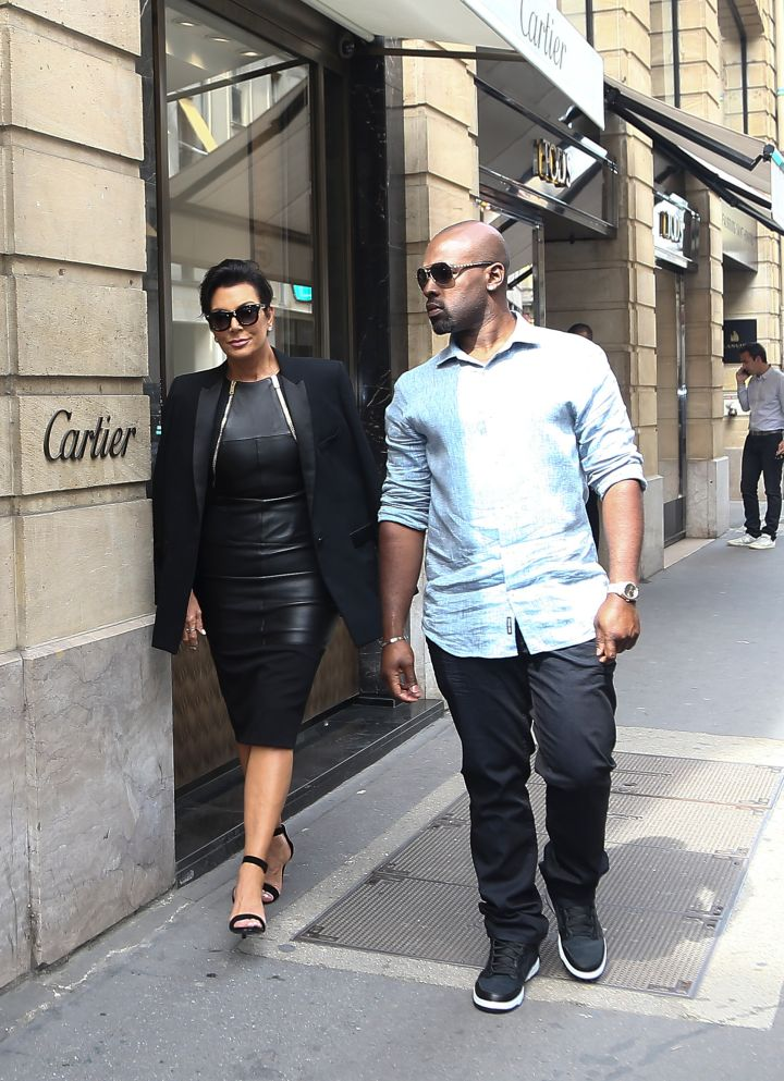 Kris Jenner and her new boy toy Corey Gamble hit l'Avenue in Paris.