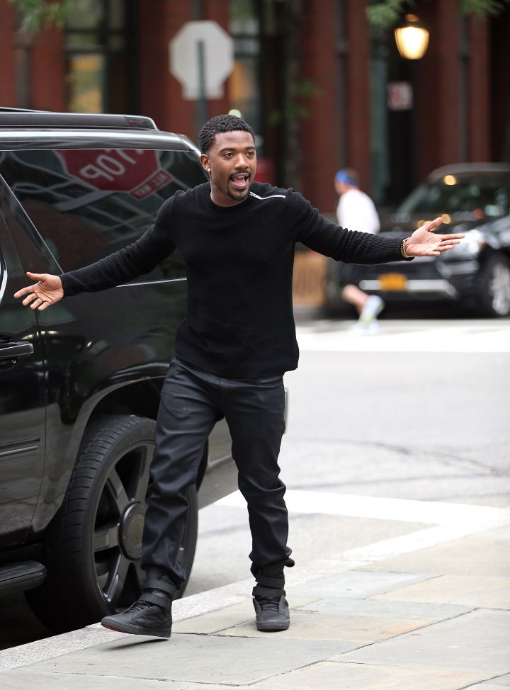 """Ray J amps himself up as he tapes his new secret reality tv show, """"Driven to Love."""""""
