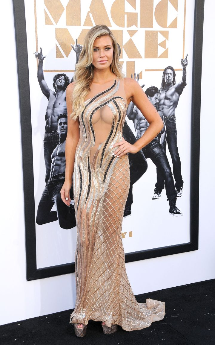 Samantha Hoopes looked amazing in this sheer number.