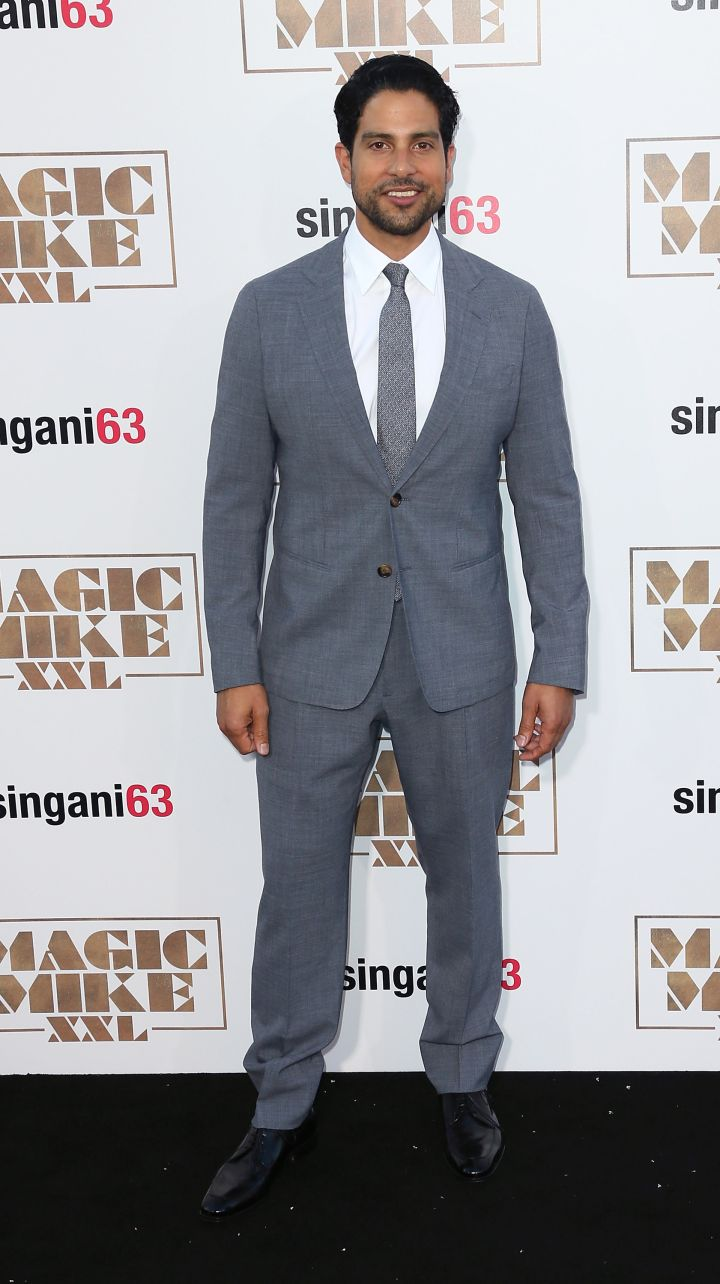 Adam Rodriguez looked handsome in a classic grey tux.