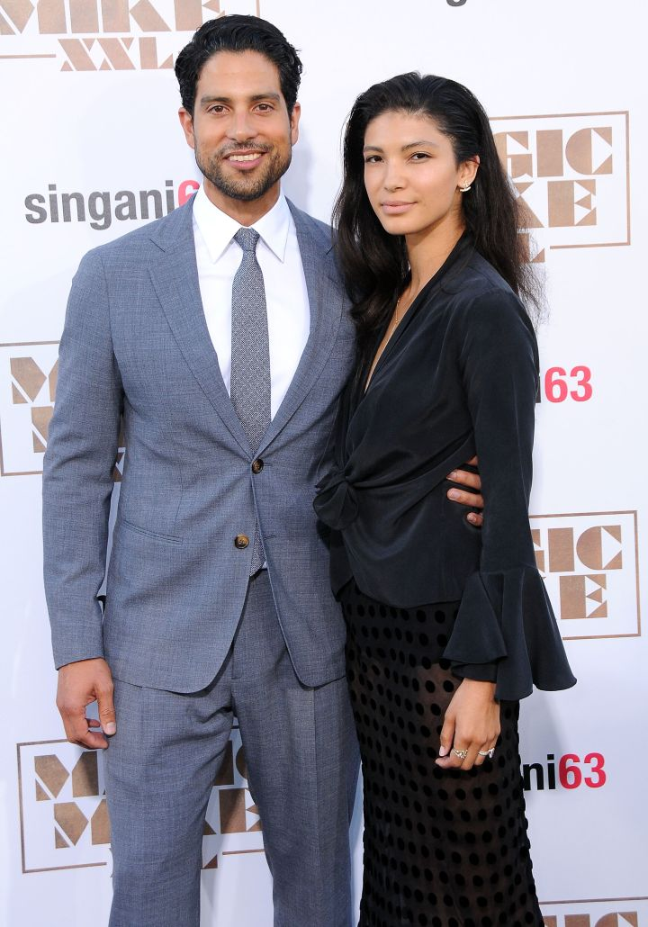 Adam Rodriguez brought a date to the premiere.