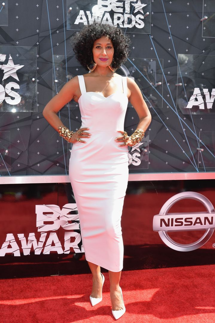 Host Tracee Ellis Ross brought the heat in this white number.
