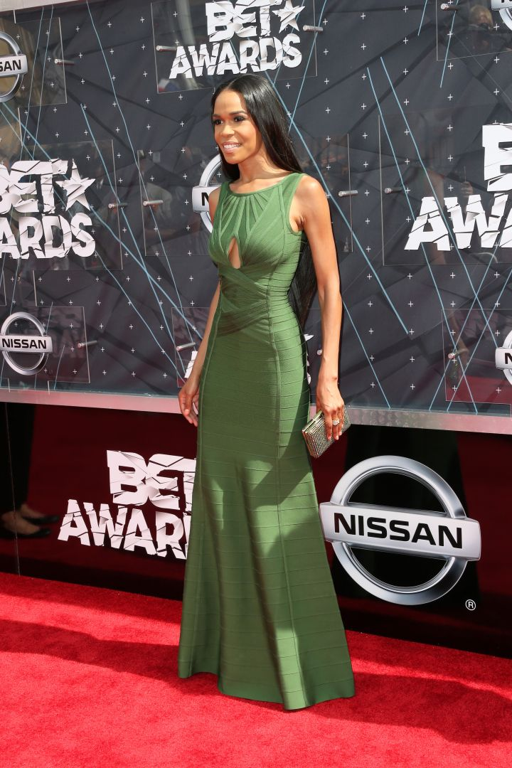 Michelle Williams looked like royalty in green.