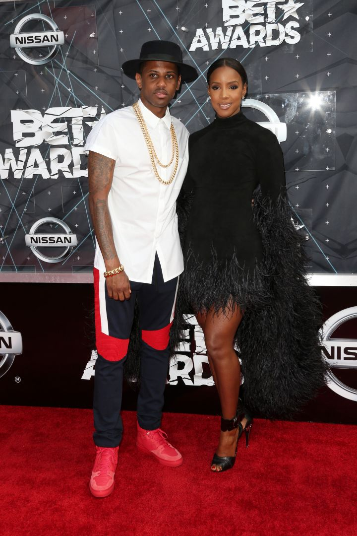 Fabolous and Kelly Rowland hit the carpet.