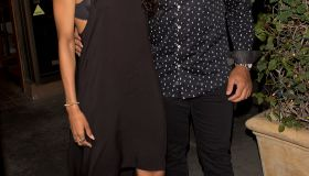 Kelly Rowland and her husband Tim Witherspoon joined Ciara and her football player boyfriend Russell Wilson and Basketball player Carmelo Anthony and Lala Vasquez for dinner at 'Madeo' Italian Restaurant