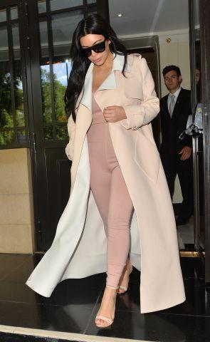 Kim Kardashian West arriving at Heathrow Airport.