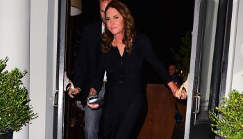 Caitlyn Jenner goes to dinner in Tribeca, NYC.