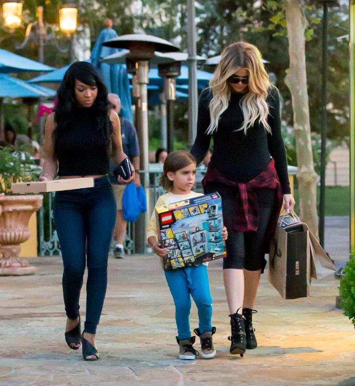 Auntie KoKo, aka Khloe Kardashian, took her nephew Mason Disick toy shopping with friend Malika Haqq in Calabasas, CA.