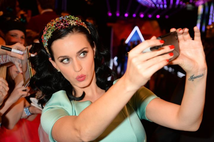 """Katy Perry (Feb. 20, 2009) """"Just got into Berlin. Feeling better thank you…Got my vicks inhaler by my bedside. And PS. I TWITTER. GAH. Such a follower"""""""