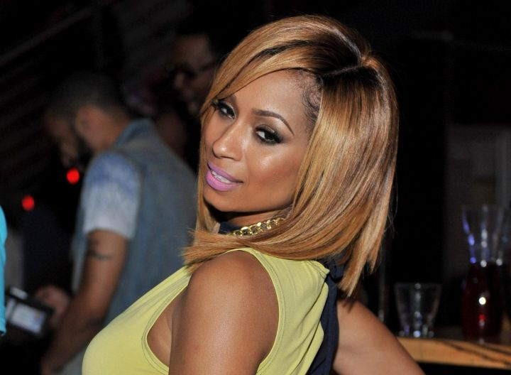 """Karlie Redd is officially engaged to mystery man Maurice """"Mo"""" Fayne."""