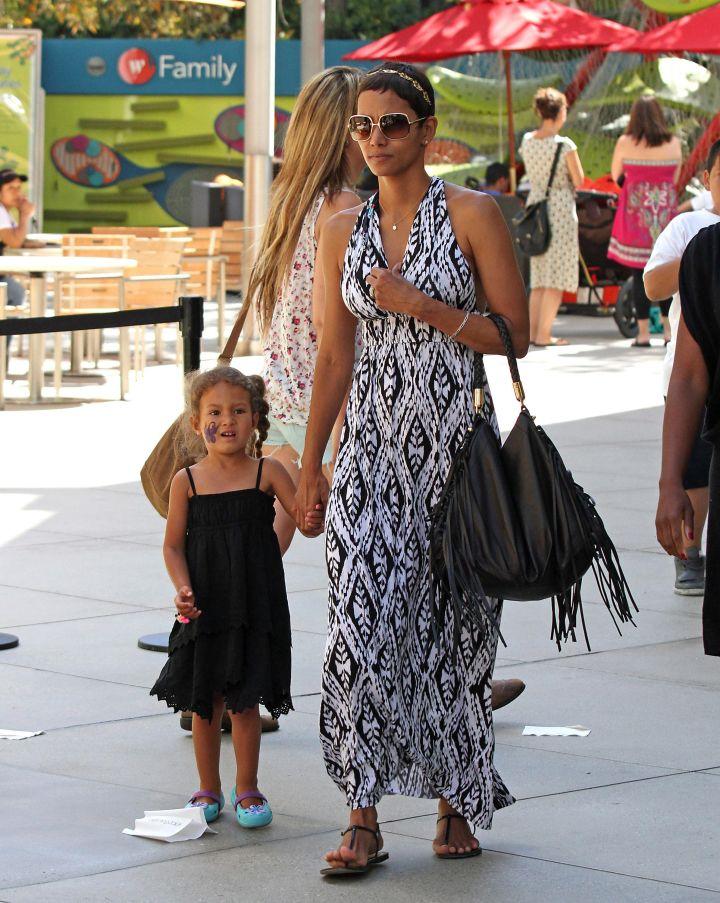 Halle Berry was 41 when she had her first child, daughter Nahla Ariela Aubry.
