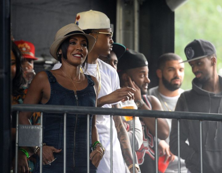 Proud mom Jada Pinkett Smith watched as kids Willow and Jaden took the stage at the Wireless Festival.